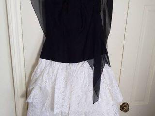 Cute Vintage Black and White Dress