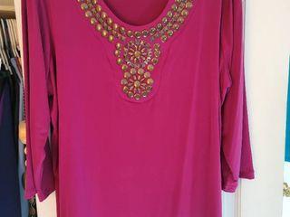 Susan graver magenta blouse size extra large