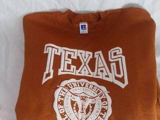 University of Texas Burnt Orange Xl Crew Neck Sweatshirt