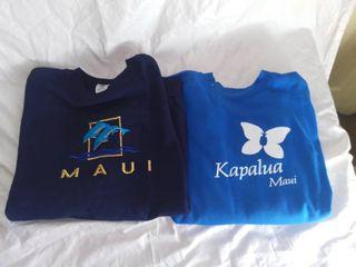 2 Blue Xl Maui Sweatshirts