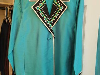 Bob Mackie Teal  Green Blazer Size large