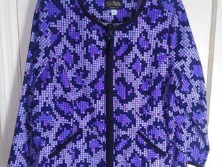 Purple Bob Mackie Jacket With Cute Brooch Size large