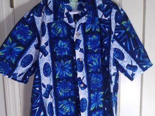 Vintage Ui Maikai Blue Hawaiian Shirt Size large