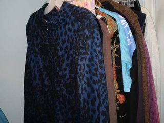 18 Piece Mega lot Of ladies Assorted Garments In Various Sizes