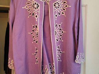 Size large lavender Bob Mackie 2 Piece Blazer and Undershirt large
