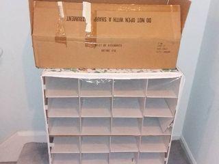 2 Closet Shoe Organizers  1 Assembled 1 In Box