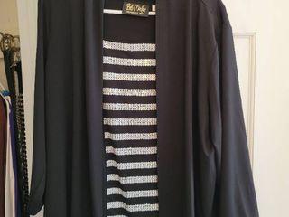 Bob Mackie Black Sequins 2 Piece Blouse Size Xl
