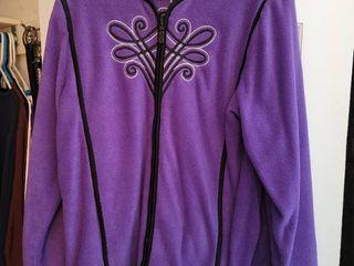 Purple Felt Bob Mackie Zip Up Jacket Size large