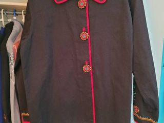 Black with Red Rim Bob Mackie Womans Jacket Size large