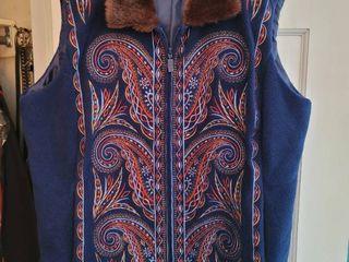 Navy Blue Bob Mackie Vest Xl