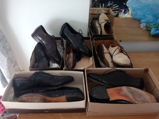 lot Of 5 Pairs Of Assorted Mens Dress Shoes Sizes 9 5 And 10s