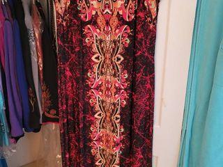 Bob Mackie Size large Red Bohemian Design Flow Dress Size large