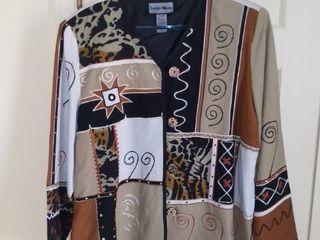 Indigo Moon Patchwork Jacket Size large
