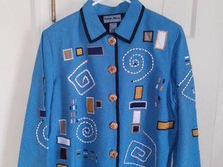 Indigo Moon Geometric Jacket Size large