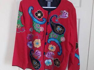 Indigo Moon Asian Style Jacket Size large