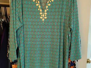 lot of 5 Susan Graver Ultra Silk Size large Womans Blouses