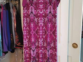 Bob Mackie Purple Free Flow Womans Dress