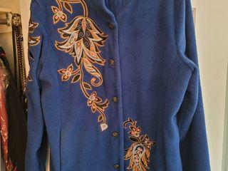 Bob Mackie Royal Blue Warm Womans Coat Size large
