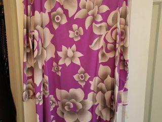 Purple Floral Bob Mackie Size large Blouse