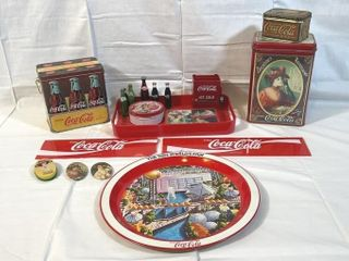 Coca Cola Tins   1982 Worlds Fair Serving Tray