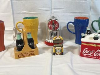 Collection of Coca Cola decorative items