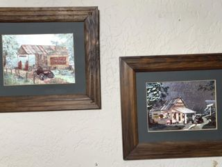 2   Framed Coca Cola country store pictures