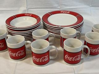 Gibson Coco Cola Dinnerware and Mugs