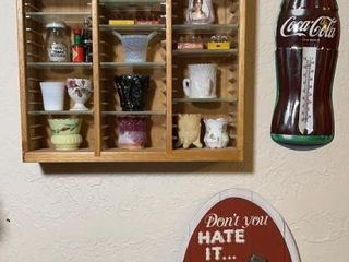 Coca Cola wood display case  and
