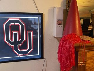 OU back lit wall hanging and