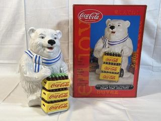 Polar Bear Delivery Ceramic Cookie Jar