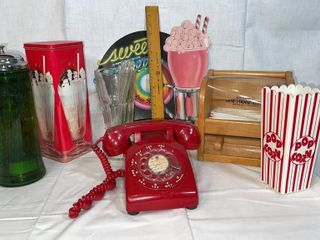 Rotary phone  soda shop decor