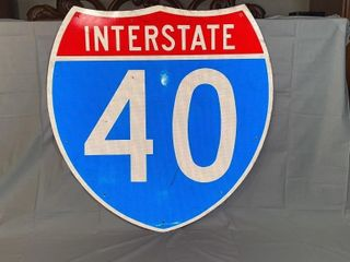 Interstate 40 metal sign