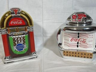 2 Coca Cola jukebox cookie jars