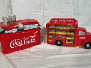 2 Coca Cola cookie jars