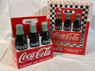 Coca Cola Ceramic Six Pack Cookie Jar