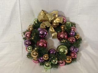20  Christmas wreath w  pastel ornaments