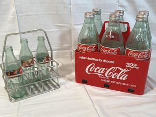 Red Coca Cola 32 oz  Bottle Carrier and