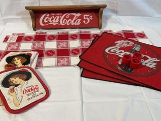Coca Cola Table Runner and Decor