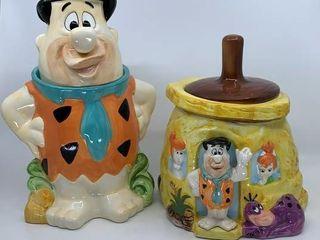 2 Fred Flintstone cookie jars