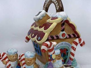 Mercuries Gingerbread House cookie jar