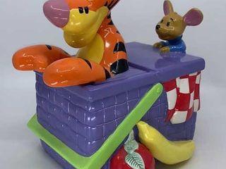 DisneyIJs Tigger and Roo in basket cookie jar