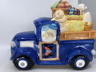 Barnyard animals in truck cookie jar