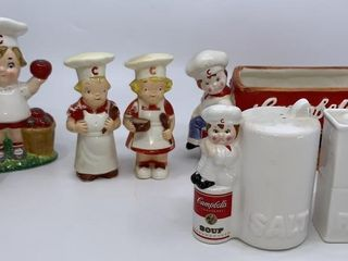 CampbellIJs Soup 3 sets of salt and pepper shakers