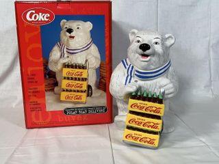 Coca Cola ceramic cookie jar
