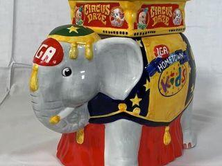 IGA Circus Daze Collection cookie jar