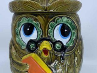 Vintage Wise Owl cookie jar