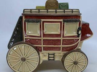 Hearth   Home Stagecoach cookie jar