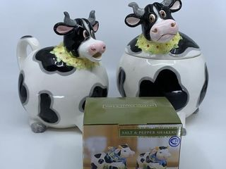 Daisy Cow cookie jar and pitcher