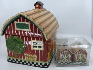 Big Red Barn cookie jar