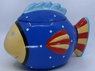 Fish cookie jar